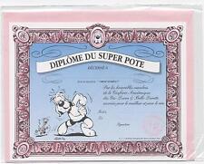 NEUF CARTE DIPLOME SUPER POTE + ENVELOPPE  !! 10 CARTES ACHETEES = PORT GRATUIT