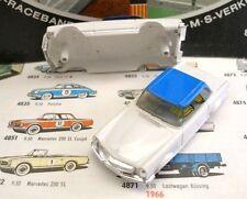1960s Foreign Faller Mercedes 230SL Slot Car Body Wh/Bl