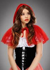 Adult Short Net Red Riding Hood Cape