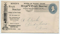 1897 Boston MA Miner's Fruit Nectar ad cover scarce machine cancel [y4217]