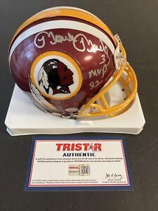 Mark Moseley Signed Mini Helmet Washington Redskins Tristar COA 1982 MVP NFL