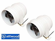 """Set of 2 Marine 4"""" Electric in-line Blower for Boats & RVs -  Attwood Turbo 4000"""