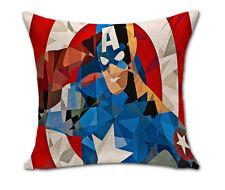 "Captain America Marvel Super Hero Cushion Cover Pillowcase Linen Cotton 18"""