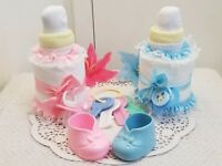 Large Baby Bottle Pacifier Diaper Cake Baby Shower Centerpiece Boy Girl