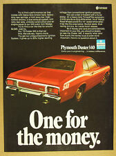 1973 Plymouth DUSTER 340 red car photo vintage print Ad
