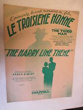 """Partition Musicale du film  Le Troisième Homme """"The Harry Lime Theme"""" Karas 1949"""