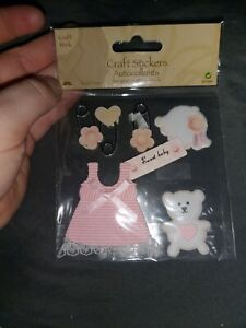 Baby Girl 3d Craft Stickers