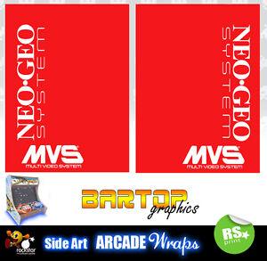 Neo Geo Mvs  sides Arcade Artwork Bartop Sides Overlay Graphic Stickers