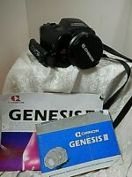 Chinon Auto Zoom Genesis III W/ Macro Zoom Camera 38-110 mm Black Instruction Bk