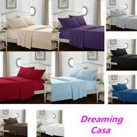 Egyptian Comfort 1800 Count 4 Piece Bed Sheet Set Deep Pocket Bed Sheets Set 2H