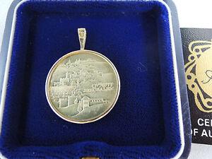"""ISRAEL 1983 """"JERUSALEM OF GOLD"""" STATE MEDAL 7g GOLD 14K w/GOLD ADILLION-PENDANT"""