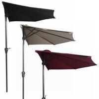 Palm Springs 9ft Aluminium Outdoor Patio Half Umbrella Garden Parasol