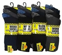 15 Pairs Mens Ultimate Work Boot Socks Size 6-14 Cushion Sole Reinforced Toe