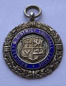 Silver Fob Enamel face - Brockley & District Football League 7.88 grams