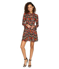 NWT Romeo & Juliet Couture print dress red rust size M Medium $140 Party Holiday