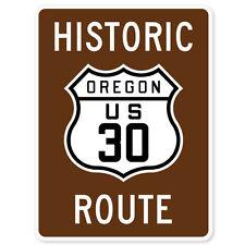 """Historic Oregon Route 30 Marker car bumper sticker 5"""" x 4"""""""