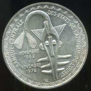 WEST AFRICAN STATES - ETATS DE L'AFRIQUE DE L'OUEST 500 francs 1972    ( aus )
