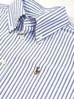 Ralph Lauren slim fit Ladies Short Sleeves Blue And White Stripe Shirt