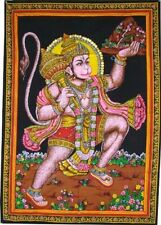 Huge Cotton Fabric Hanuman Monkey God Yoga 43 X 30 Tapestry