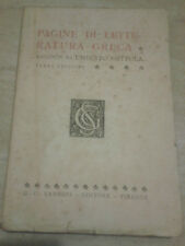 Umberto Nottola - PAGINE DI LETTERATURA GRECA - 1940 - Sansoni