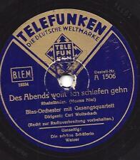 Blasorchester Carl Woitschach spielt Herms Niel : Des Abends wollt ich schlafen