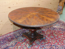 Victorian English coffee table in mahogany feather
