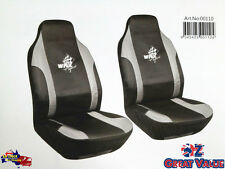 GREY Car Seat Covers Set WRX SUPER SPORTS Size 60 High Back and Foam Backed