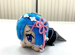Isekai Quartet Vol.1 Re Zero Nesoberi Mini Plush Keychain Toy Doll Rem SG7874