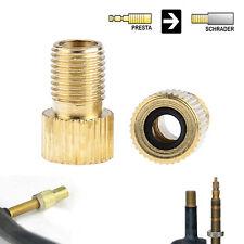 5pcs Brass Adaptor  To Schrader Bicycle Valve Converter Bike Pump Adapter