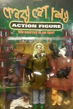 Crazy cat lady action figure 6 cats kittens accoutrements new krazy neighbor fun