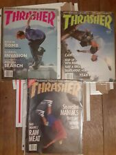 Thrasher skateboard magazine1989 nos oldschool deck vtg used lot of