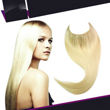 Thick Invisible Wire Secret One Piece Headband Real Remy Human Hair Extensions