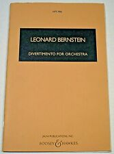 Divertimento for Orchestra Scores by Leonard Bernstein Hps 986 Free Shipping!