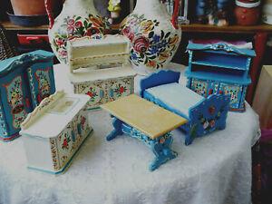 Puppenmöbel - Dora Kuhn - 14 cm x 12,5 cm  - Konvolut - auch einzeln