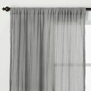 Opalhouse Crushed Sheer Curtain Panel  gray 42 X 84