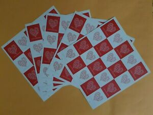 USPS Forever Hearts, Forever Stamps  5 Sheet of 20 Total 100