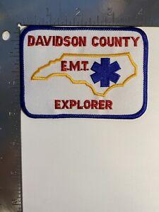 DAVIDSON COUNTY EMT EXPLORER NORTH CAROLINA PATCH