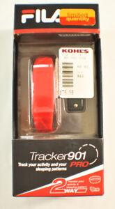 Fila tracker 901 Pro red bluetooth smart fitness sleep, calorie, distance track