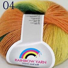 AIP Soft Cashmere Wool Colorful Rainbow Wrap Shawl DIY Hand Knit Yarn 50gr 04