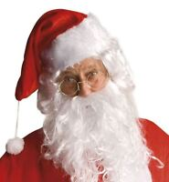 Father Christmas Clear Lens Round Glasses Santa Grotto Fancy Dress Accessory Old