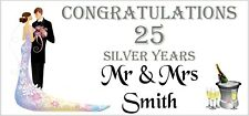 2 PERSONALISED 25th Silver Wedding Anniversary Banners Party Decorations 004