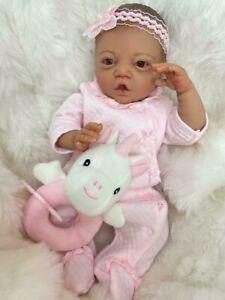 "CHERISH DOLLS CHILDS STARTER REBORN BABY GIRL IMANI 16"" FULL LIMBED SOFT BODY UK"