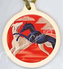 Art Deco Greyhound Dogs Porcelain Ornament Whippets Igs
