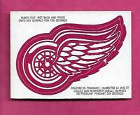 RARE 1973-74 OPC DETROIT RED WINGS  LOGO  INSERT CARD (INV# A8296)