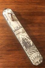 Antique Nautical Sundial with Scrimshawon Bone Inlay