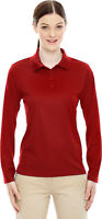 North End Women's New Polyester Performance Long Sleeve Pique Polo Shirt. 78192