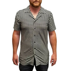 Ricky's Houndstooth Shirt Button Down Ricky Richard Rick TV Show Costume Gift