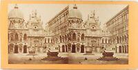 Italia Venezia Palais Dei Doge, Foto Stereo Vintage Albumina Ca 1870