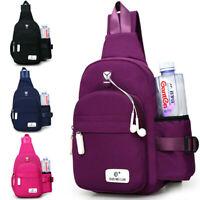 Men Women Nylon Sling Bag Backpack Crossbody Shoulder Chest School Daily Travel