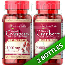 Puritans Pride Cranberry Fruit Concentrate 25,000mg 2X60 or 1X120 Caps